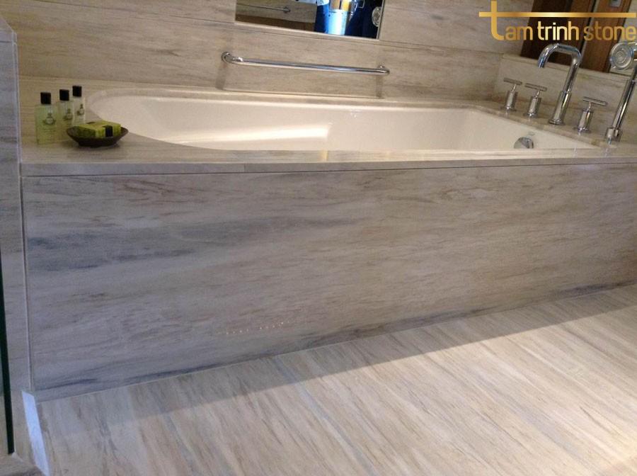 Đá marble vân xám làm phòng tắm
