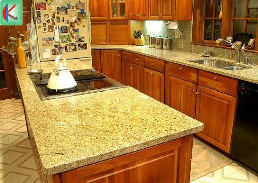 Đá vàng Granite ốp bếp