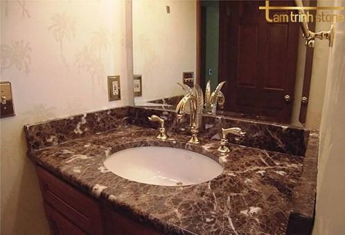 Lavabo đá marble nâu cafe