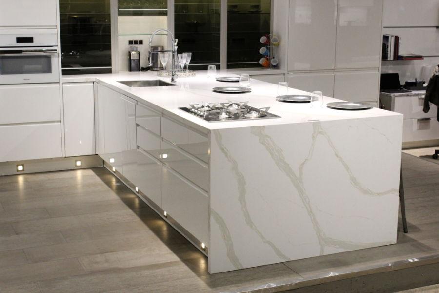 Đá nhân tạo thạch anh sử dụng trong không gian bếp