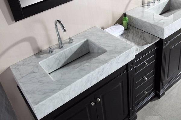 Bàn đá lavabo sử dụng đá marble