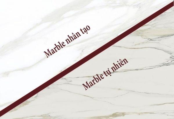 Phân biệt đá tự nhiên marble và đá nhân tạo