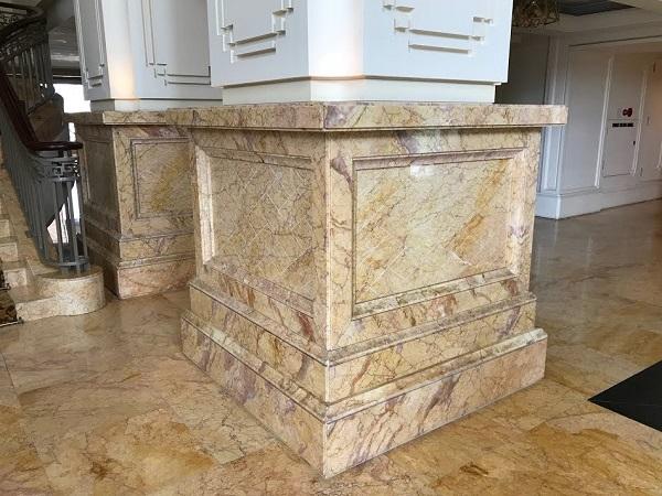 Đá marble ốp cột sang trọng